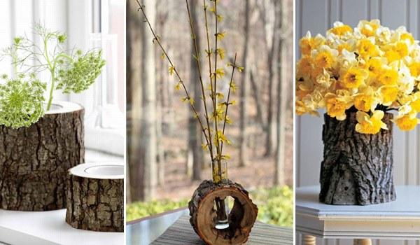 Kütük dekoratif objeler