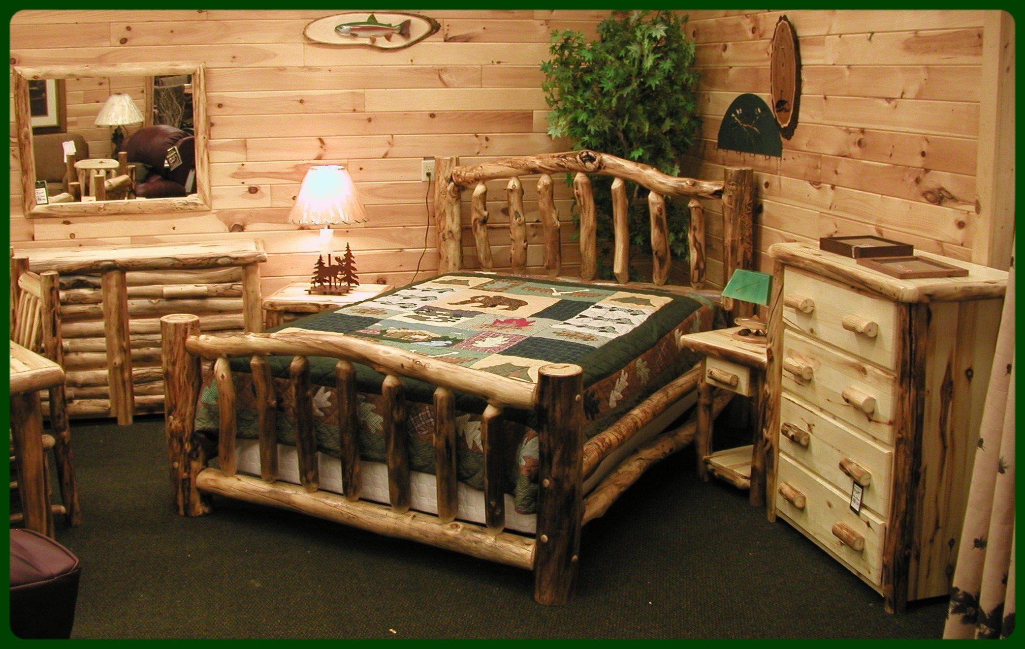 Kütük yatak odası modeli