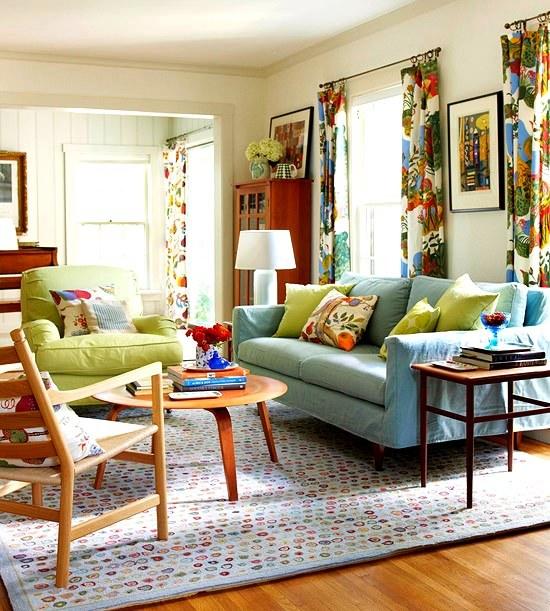 Salon için ev tekstili modelleri